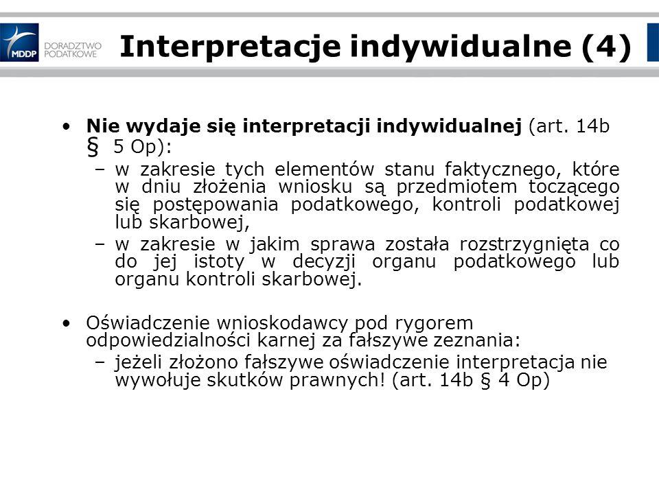 Interpretacje indywidualne (4)