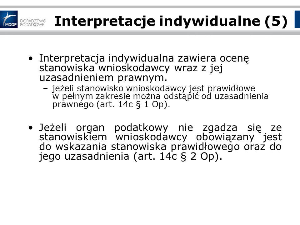 Interpretacje indywidualne (5)