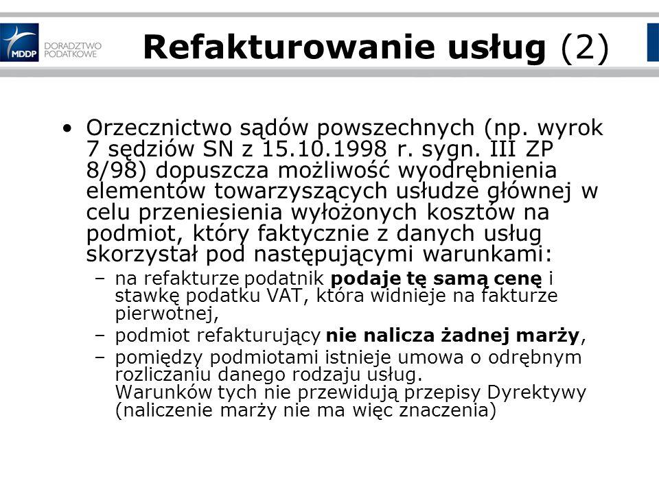 Refakturowanie usług (2)