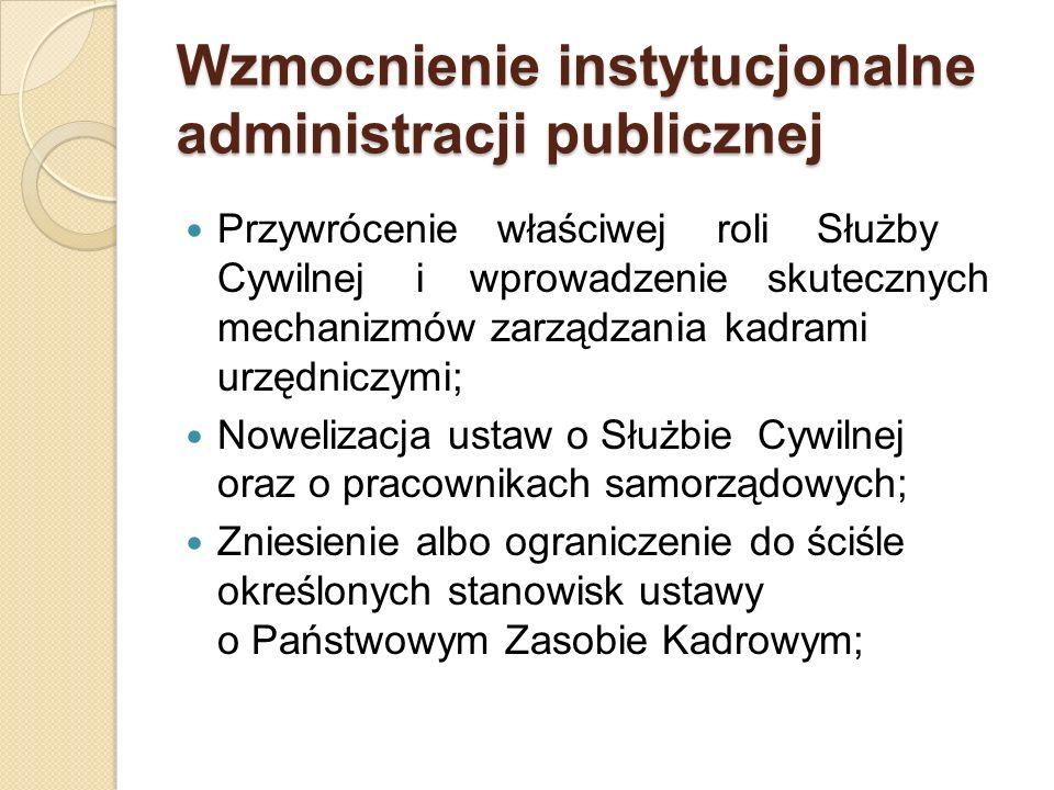 Wzmocnienie instytucjonalne administracji publicznej