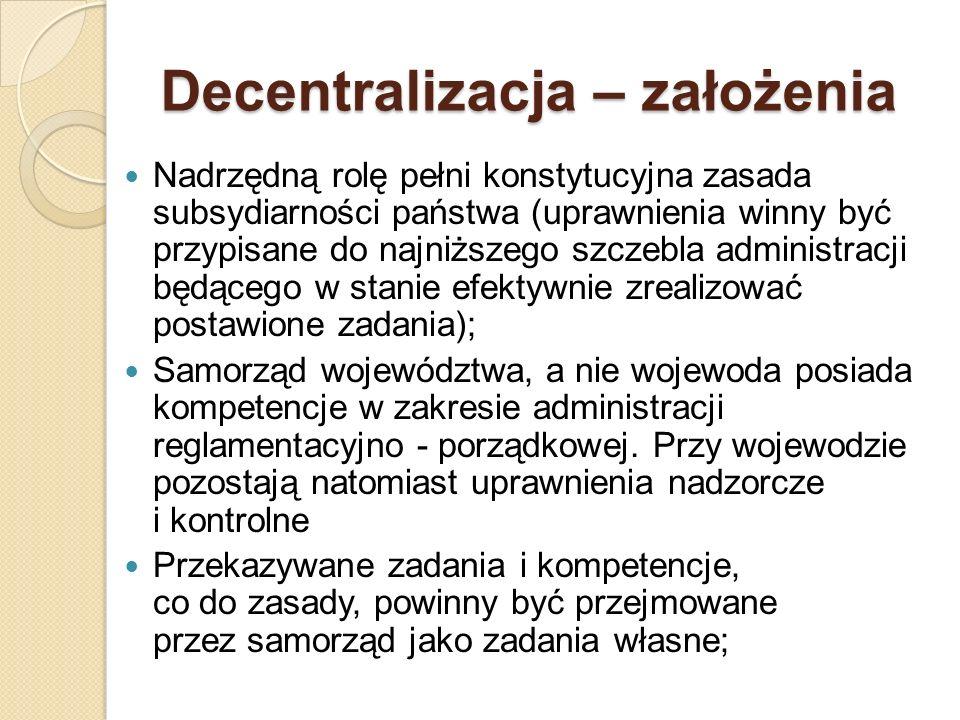 Decentralizacja – założenia
