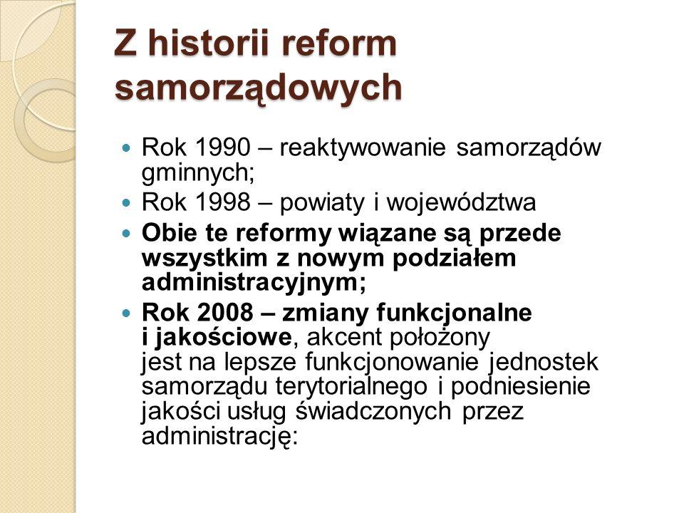 Z historii reform samorządowych