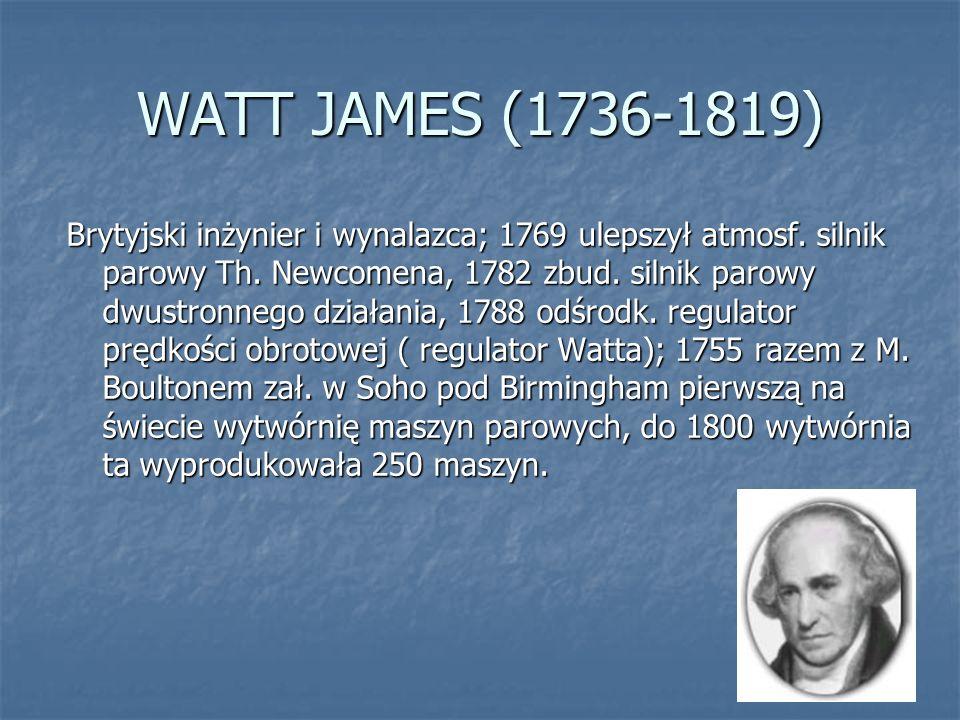 WATT JAMES (1736-1819)