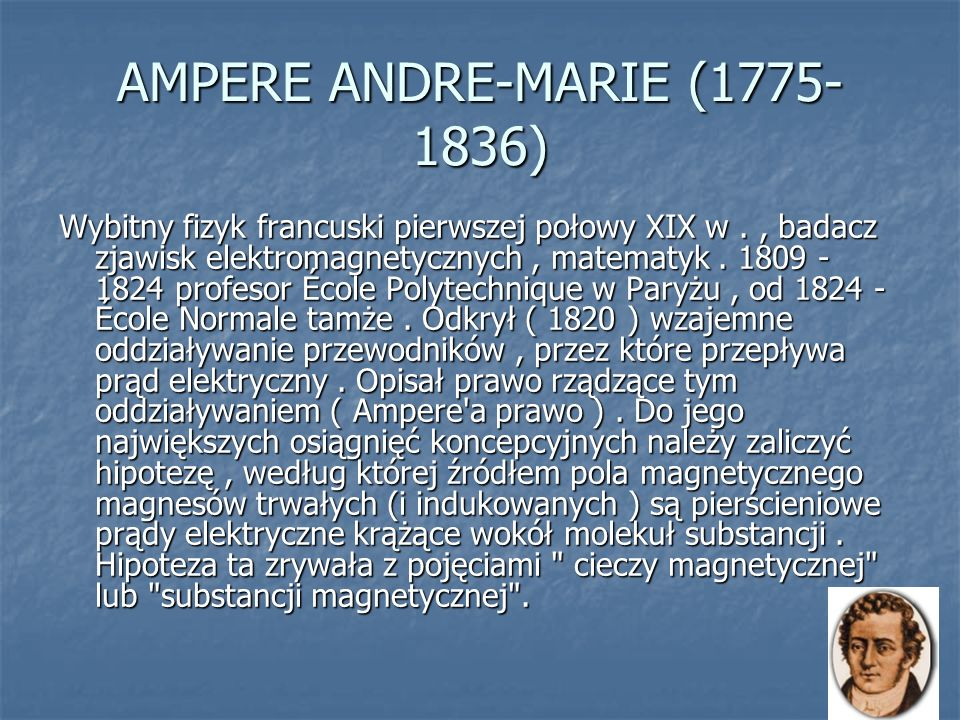 AMPERE ANDRE-MARIE (1775-1836)