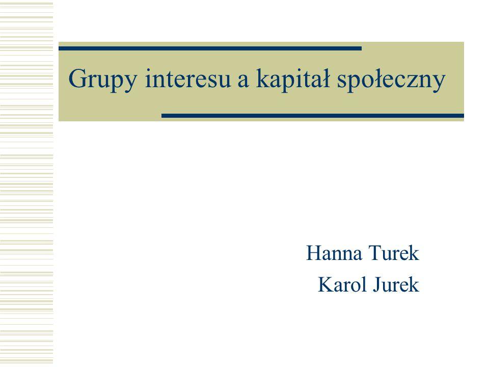 Grupy interesu a kapitał społeczny