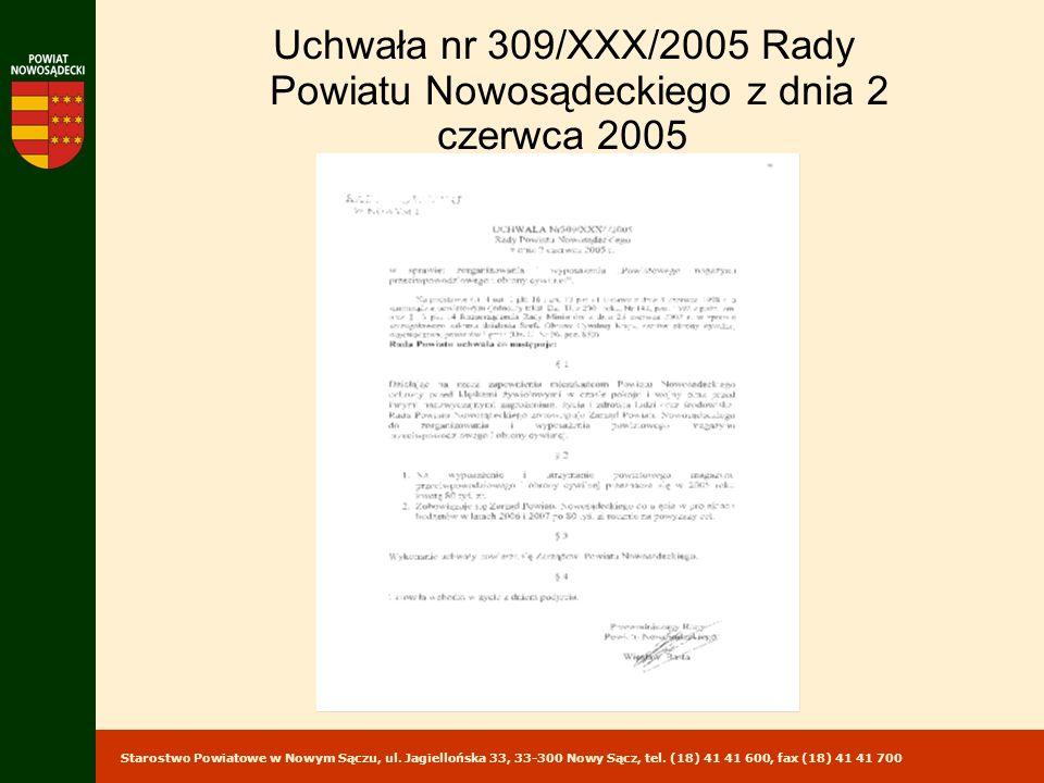 Powiatu Nowosądeckiego z dnia 2 czerwca 2005