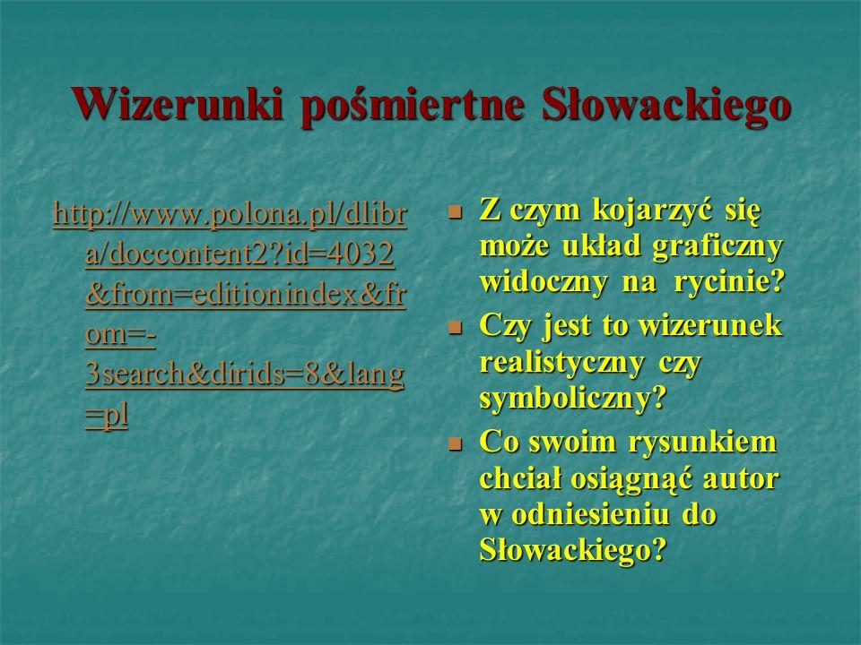 Wizerunki pośmiertne Słowackiego