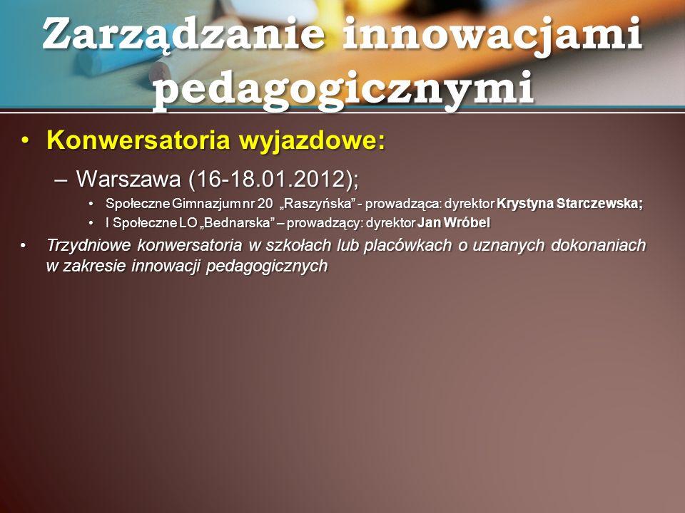 Zarządzanie innowacjami pedagogicznymi