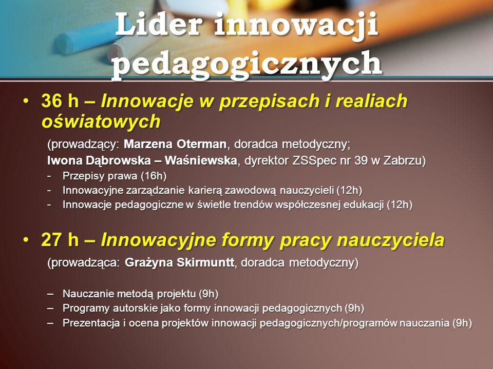 Lider innowacji pedagogicznych