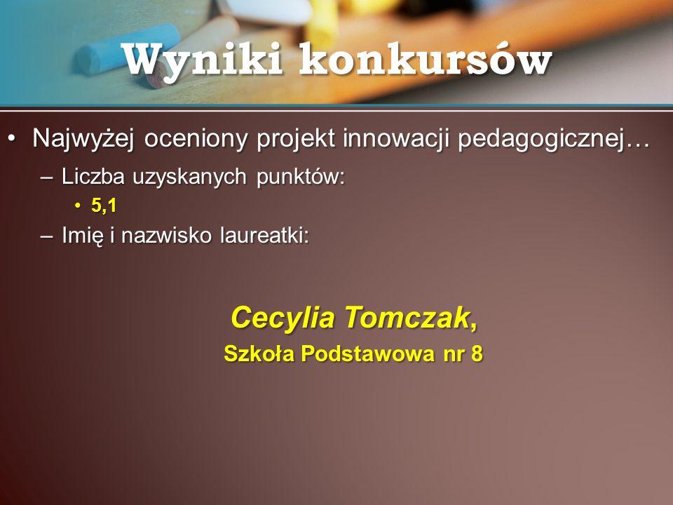 Wyniki konkursów Cecylia Tomczak,