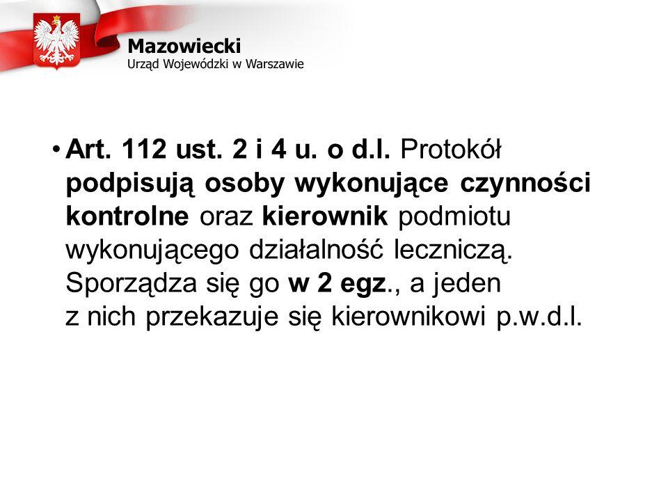 Art.112 ust. 2 i 4 u. o d.l.