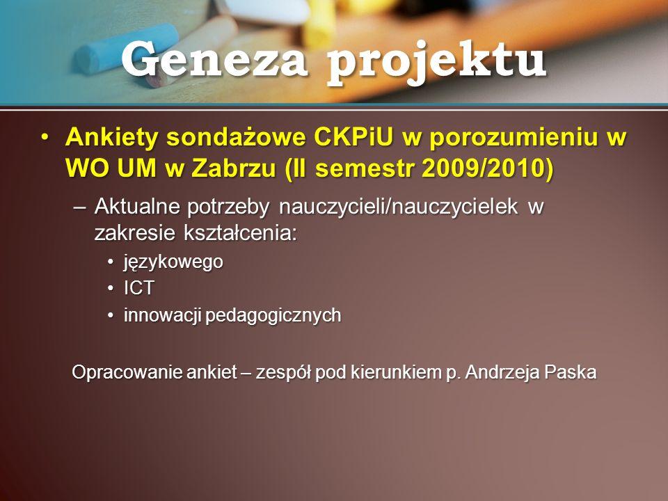 Opracowanie ankiet – zespół pod kierunkiem p. Andrzeja Paska