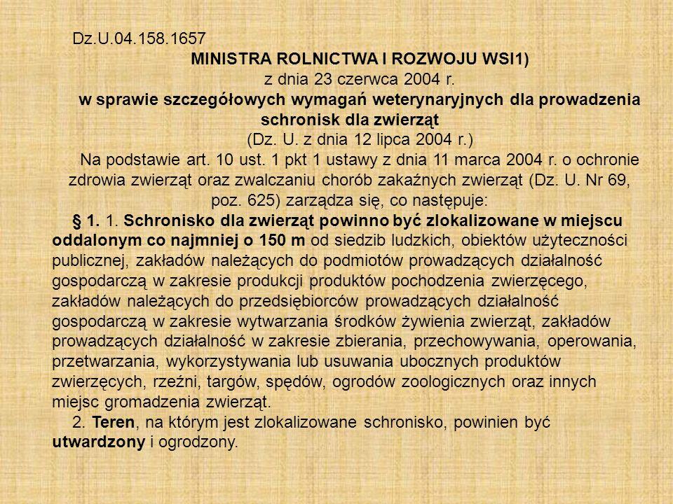 MINISTRA ROLNICTWA I ROZWOJU WSI1)