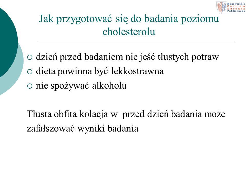 Jak przygotować się do badania poziomu cholesterolu