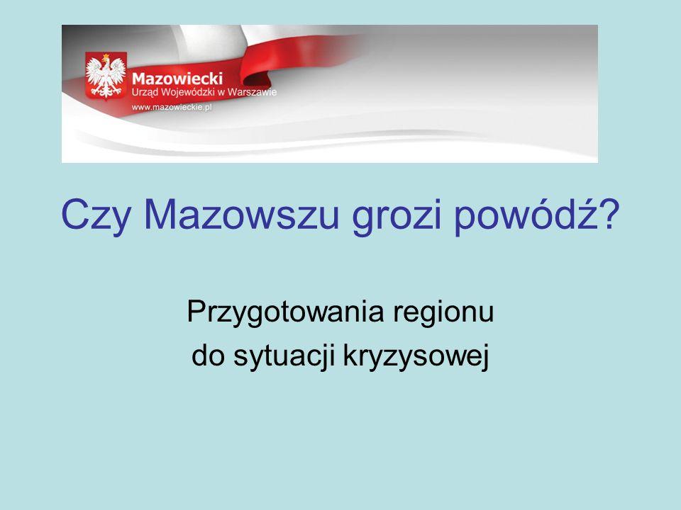 Czy Mazowszu grozi powódź