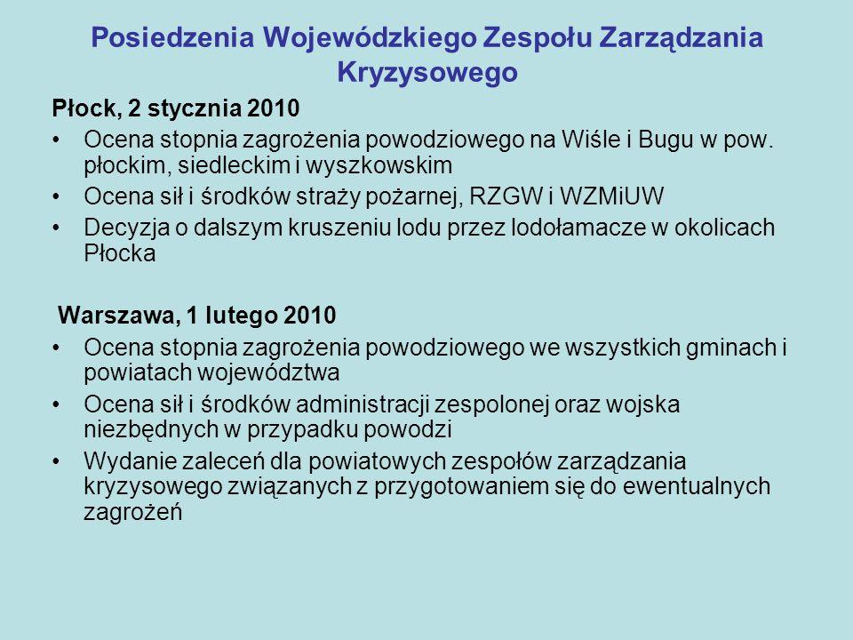 Posiedzenia Wojewódzkiego Zespołu Zarządzania Kryzysowego