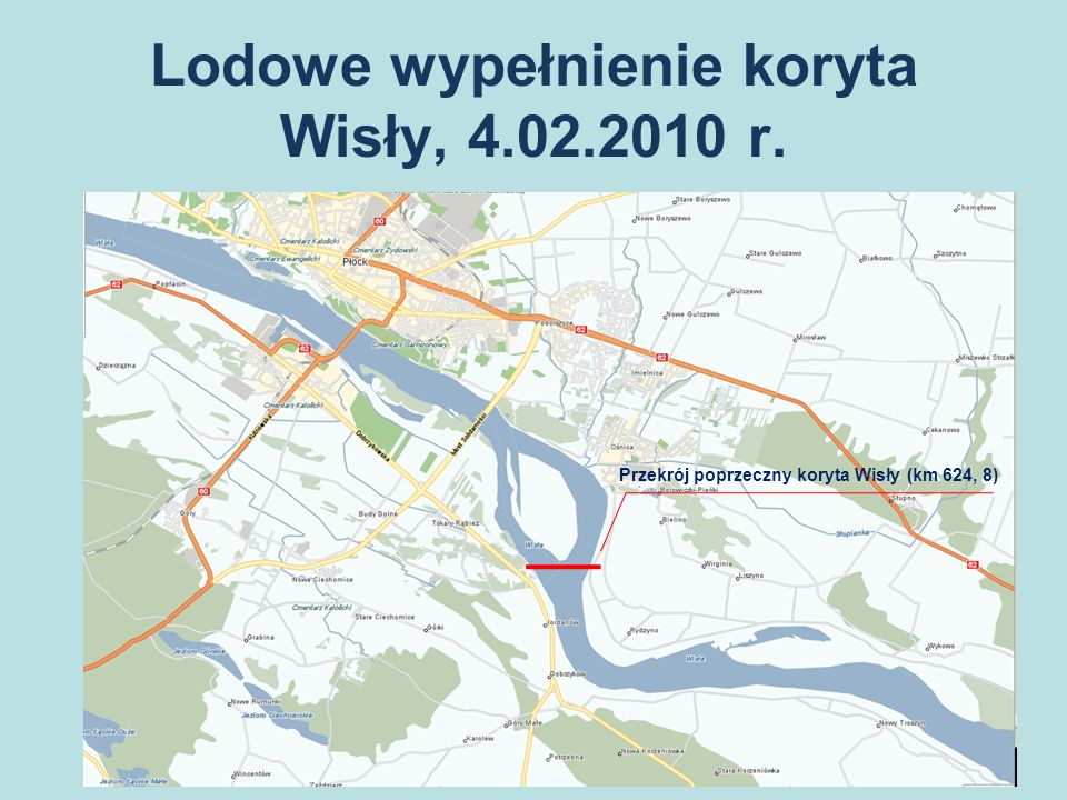 Lodowe wypełnienie koryta Wisły, 4.02.2010 r.