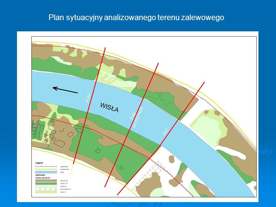 Plan sytuacyjny analizowanego terenu zalewowego