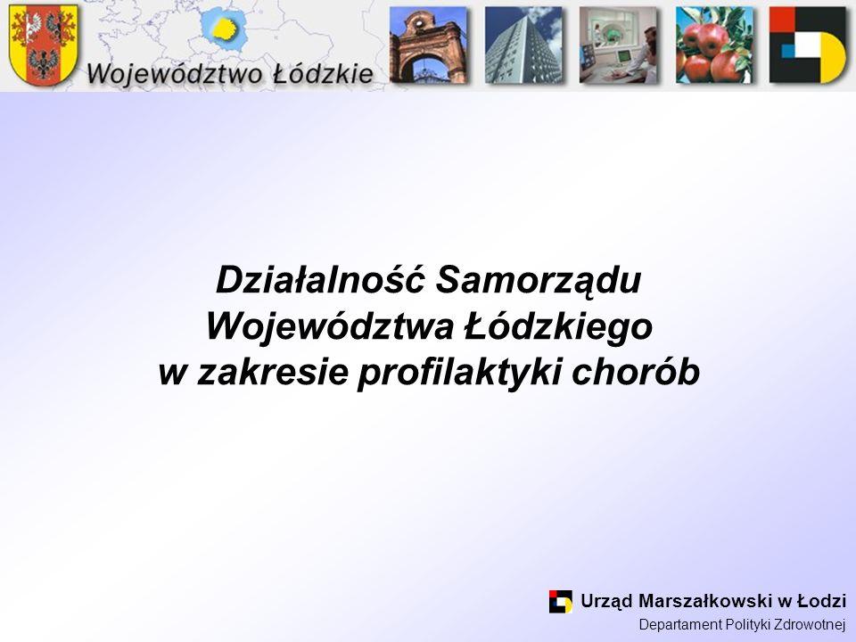 Działalność Samorządu Województwa Łódzkiego w zakresie profilaktyki chorób
