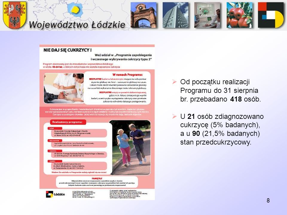 Od początku realizacji Programu do 31 sierpnia br. przebadano 418 osób.