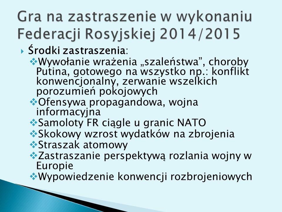 Gra na zastraszenie w wykonaniu Federacji Rosyjskiej 2014/2015