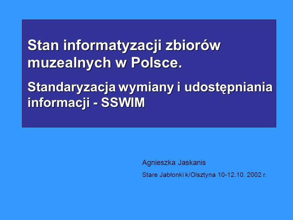 Stan informatyzacji zbiorów muzealnych w Polsce.