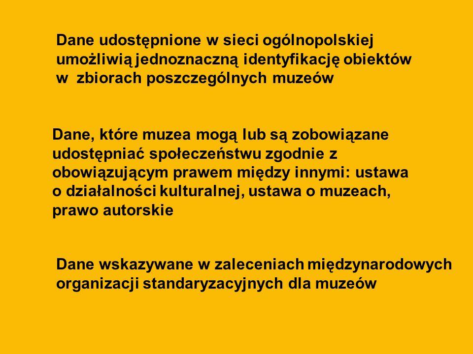 Dane udostępnione w sieci ogólnopolskiej umożliwią jednoznaczną identyfikację obiektów w zbiorach poszczególnych muzeów