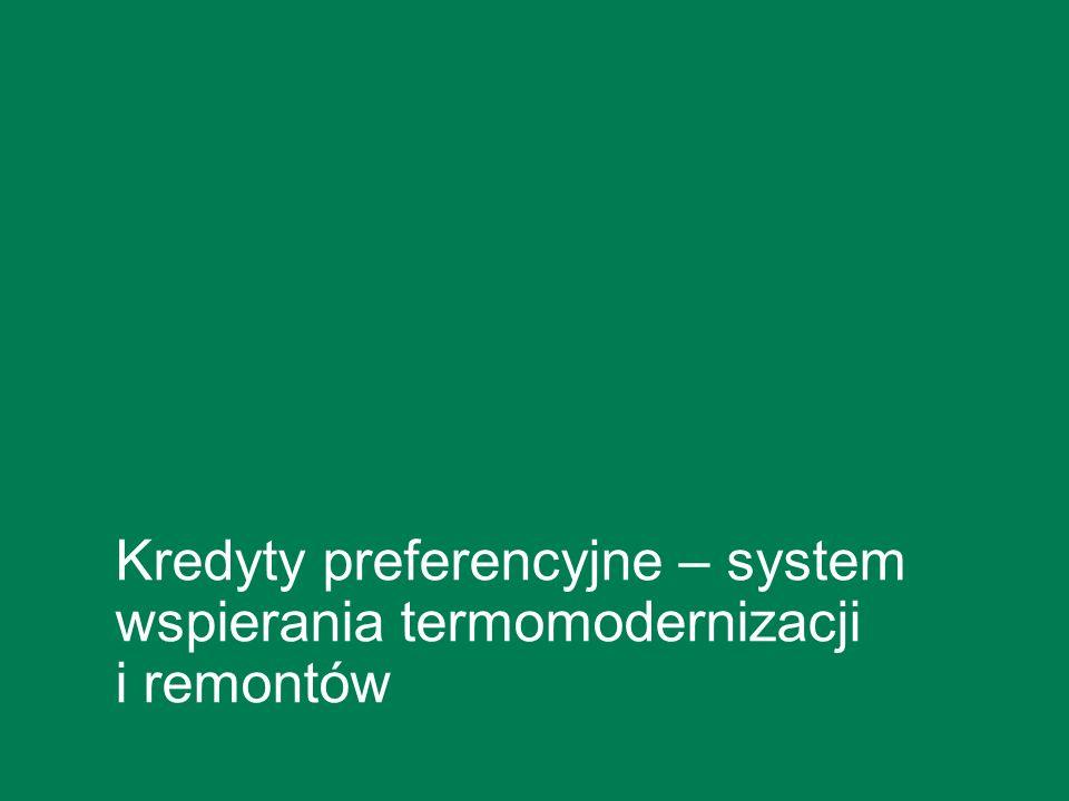 Kredyty preferencyjne – system wspierania termomodernizacji i remontów
