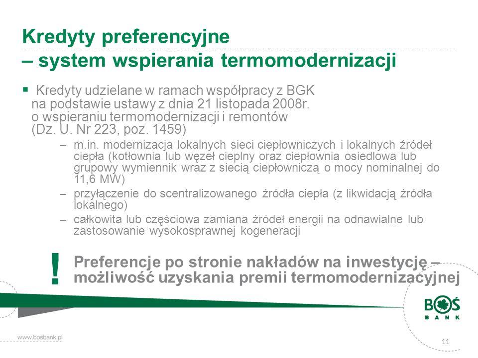 Kredyty preferencyjne – system wspierania termomodernizacji