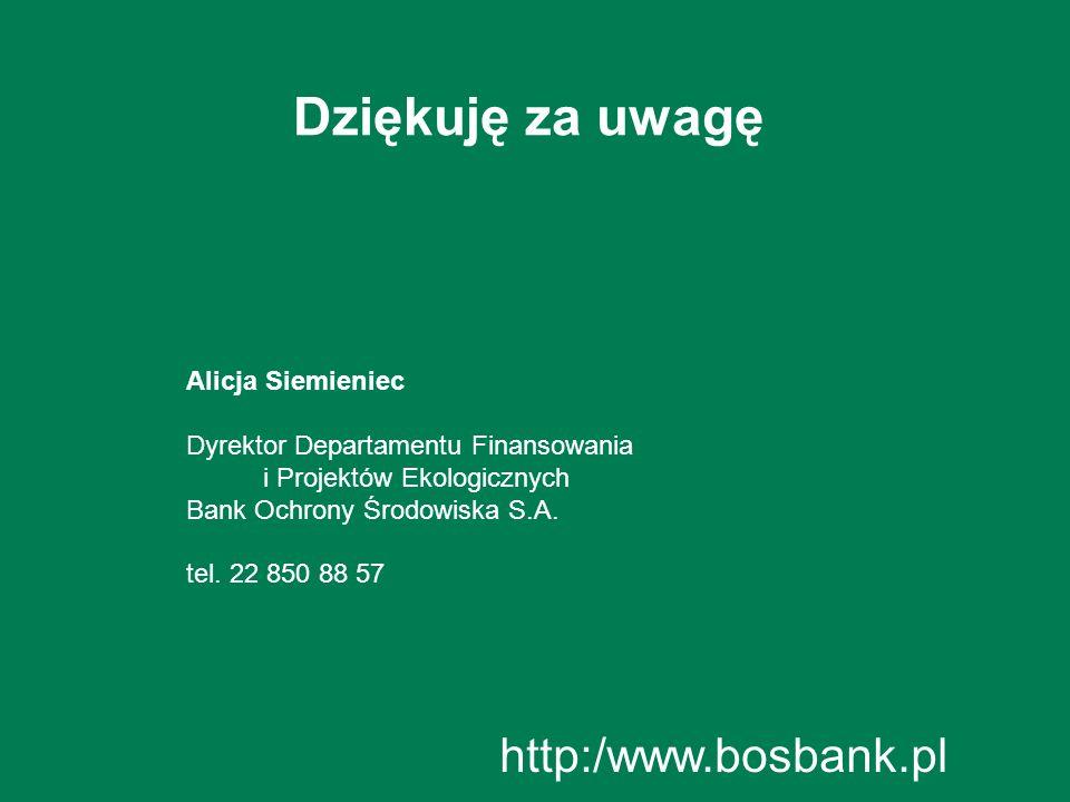 Dziękuję za uwagę http:/www.bosbank.pl Alicja Siemieniec