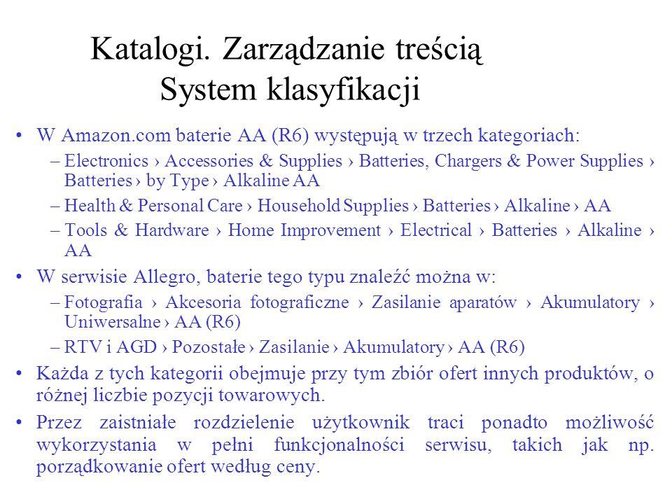 Katalogi. Zarządzanie treścią System klasyfikacji