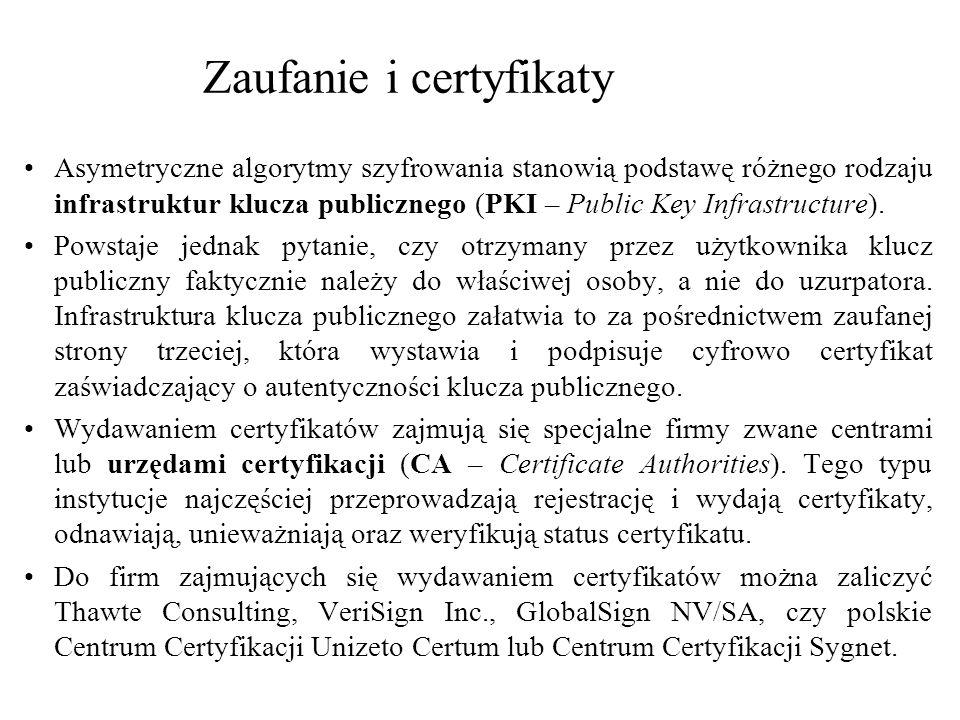 Zaufanie i certyfikaty