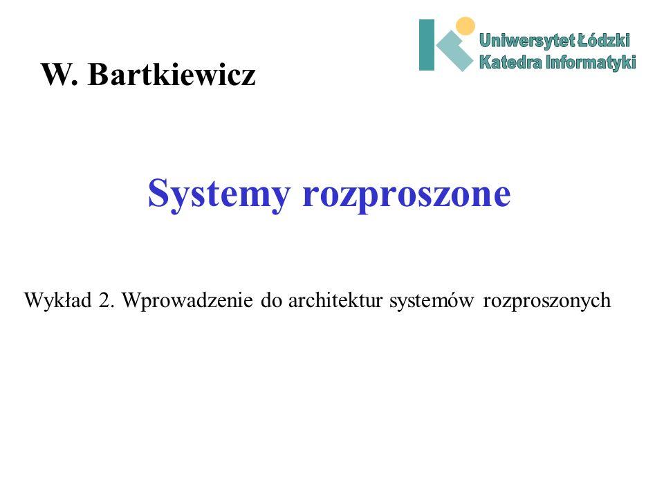 Wykład 2. Wprowadzenie do architektur systemów rozproszonych