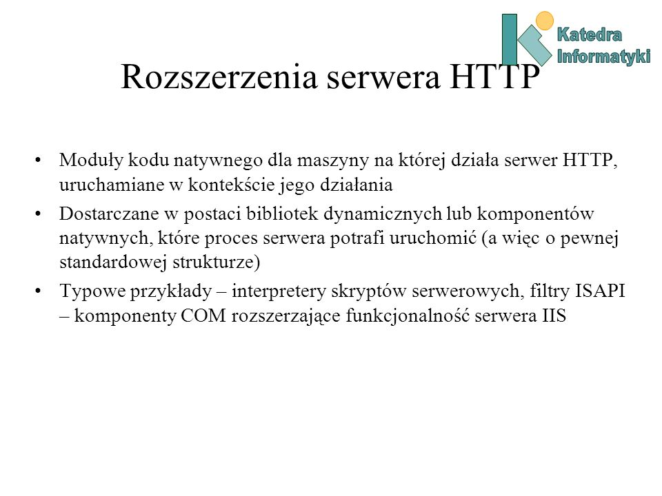 Rozszerzenia serwera HTTP