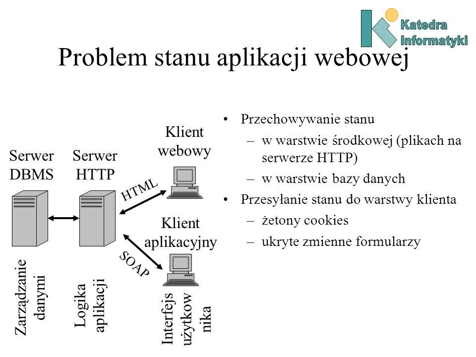 Problem stanu aplikacji webowej