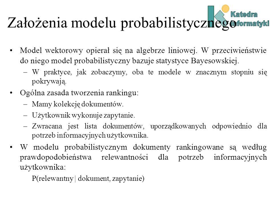 Założenia modelu probabilistycznego