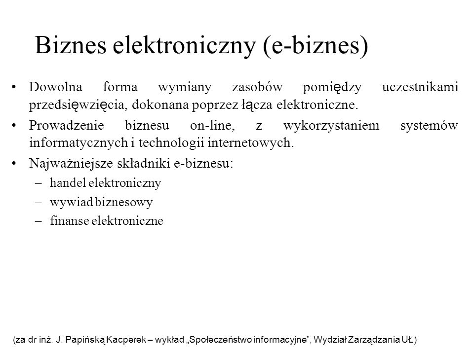 Biznes elektroniczny (e-biznes)
