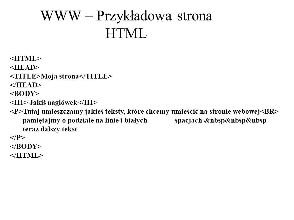 WWW – Przykładowa strona HTML