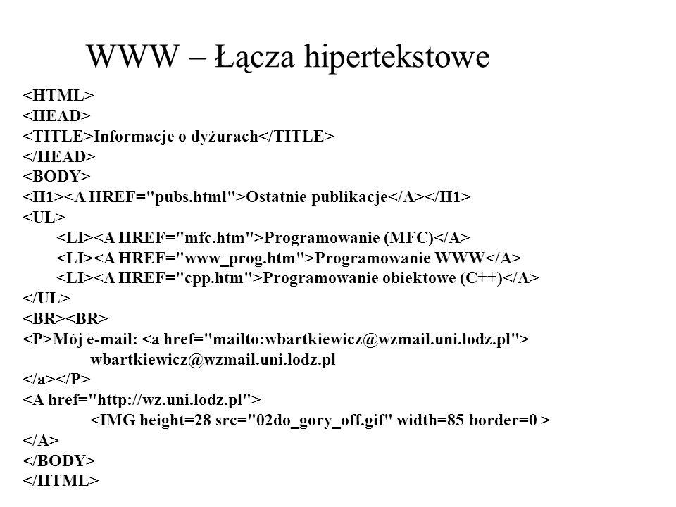 WWW – Łącza hipertekstowe