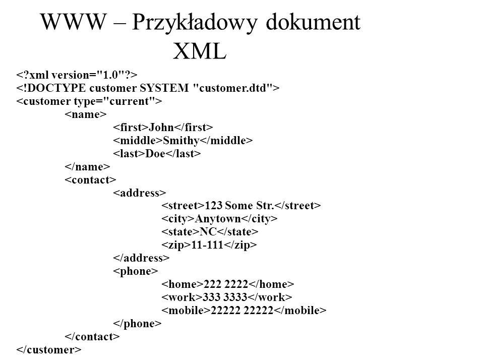 WWW – Przykładowy dokument XML