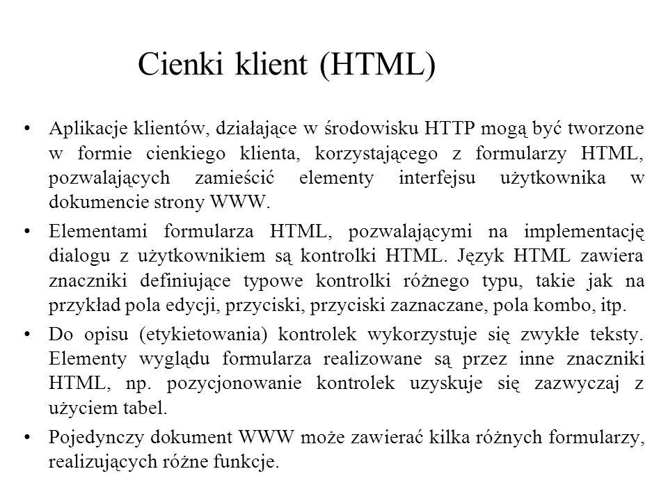 Cienki klient (HTML)