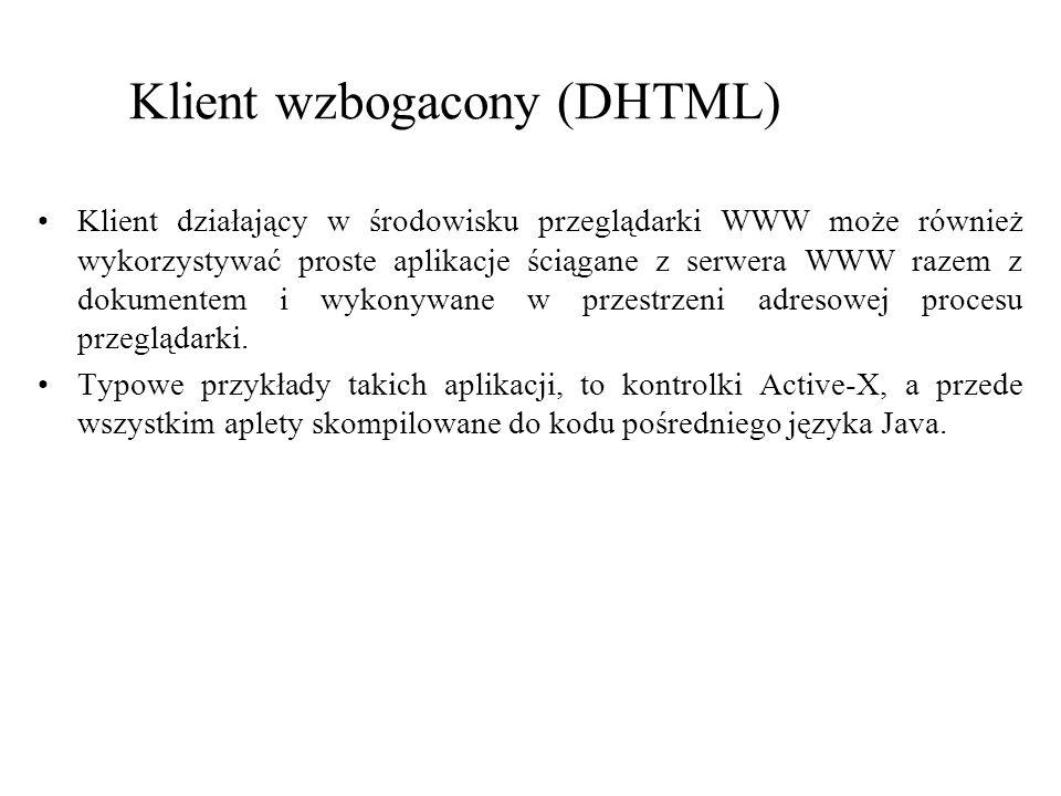 Klient wzbogacony (DHTML)