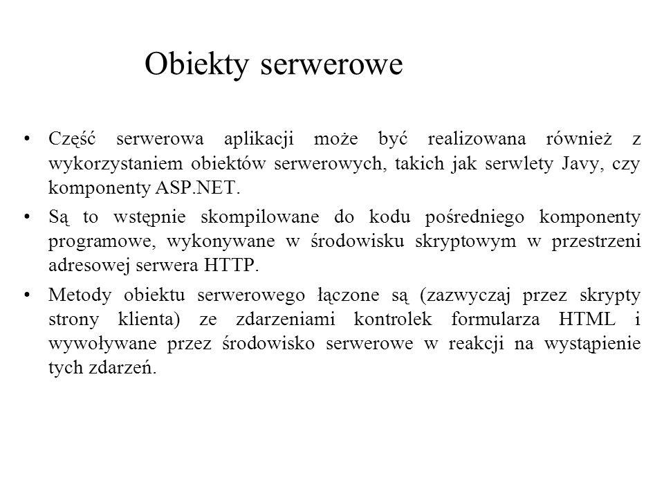 Obiekty serwerowe