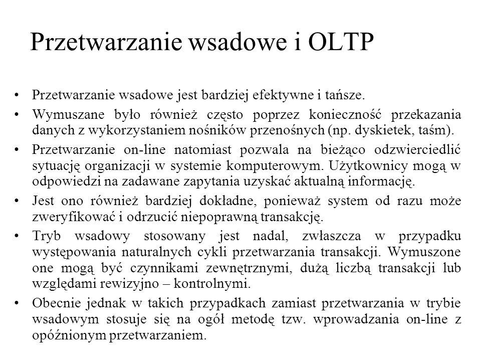 Przetwarzanie wsadowe i OLTP