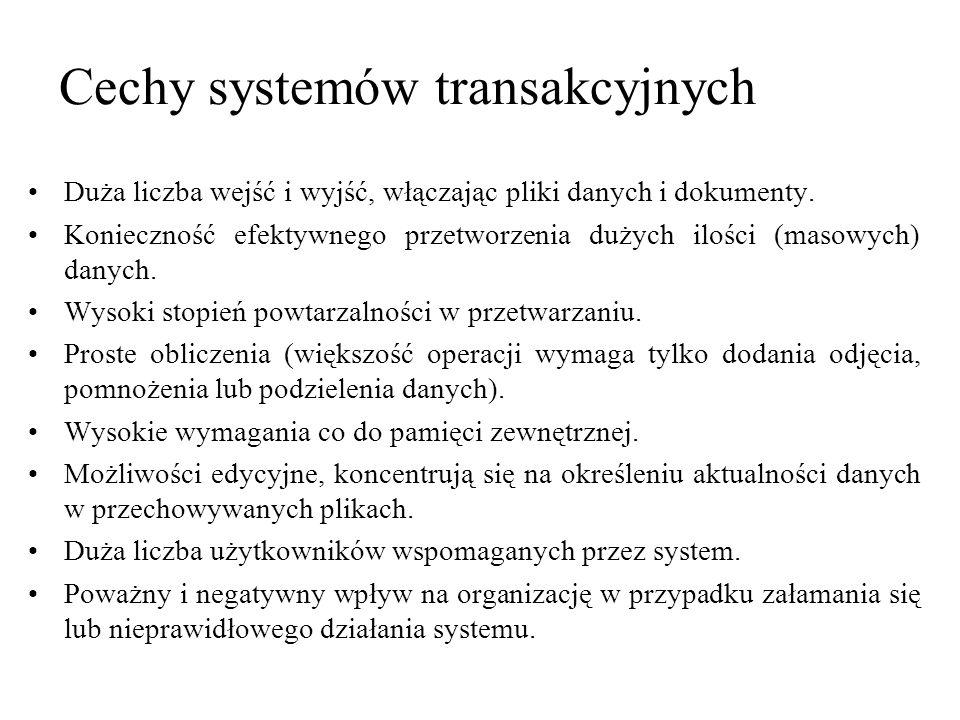 Cechy systemów transakcyjnych