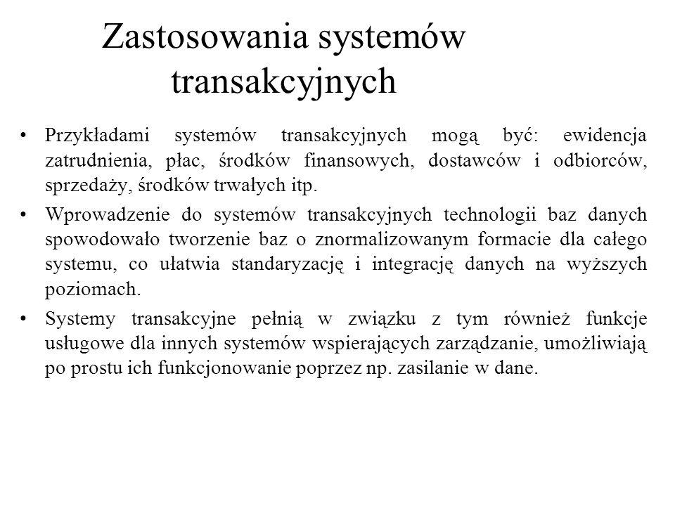 Zastosowania systemów transakcyjnych