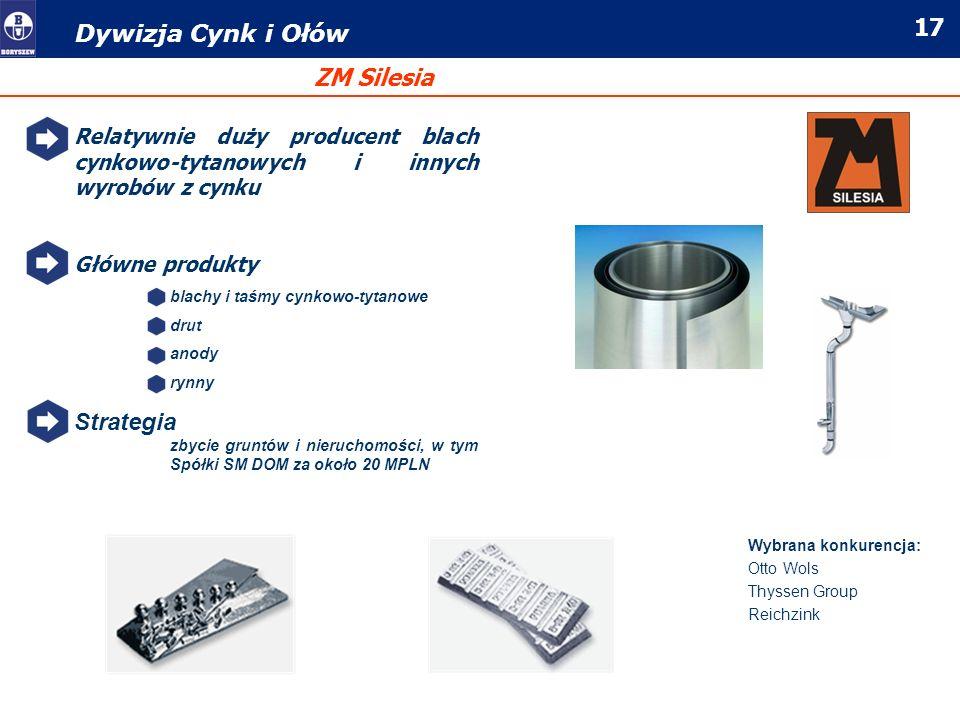 Dywizja Cynk i Ołów ZM Silesia Strategia