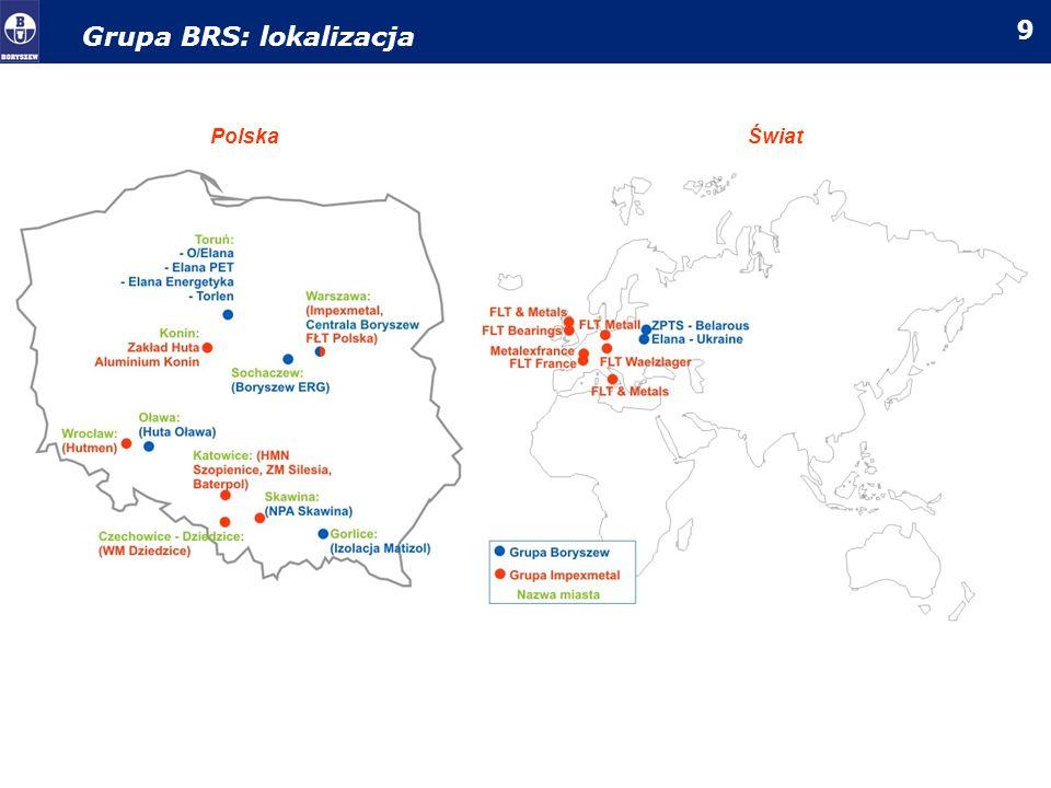 Grupa BRS: lokalizacja