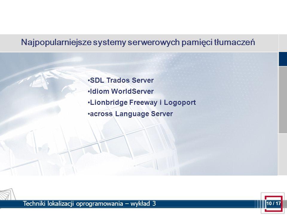 Najpopularniejsze systemy serwerowych pamięci tłumaczeń