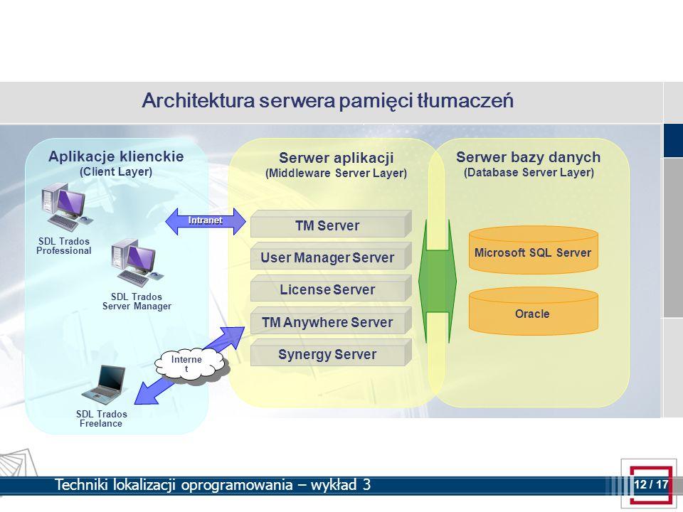 Architektura serwera pamięci tłumaczeń